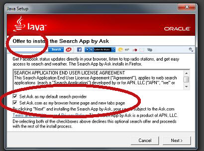 Java and Ask Install